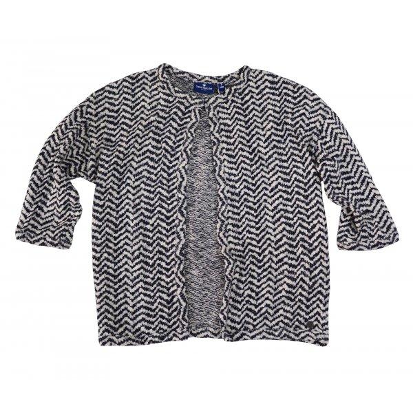 Tom Tailor Jacquard pattern jacket soft light beige