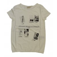 Tom Tailor T-Shirt tee with gathering and artwork soft...