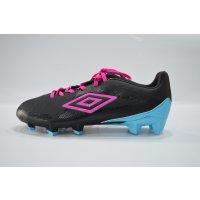 Umbro FB Schuh Velocita Club HG Black/Pink Glo/ Blue Atoll