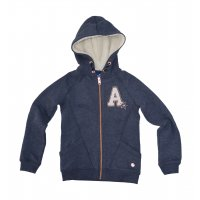 Tom Tailor Sweatjacket with applications black iris blue