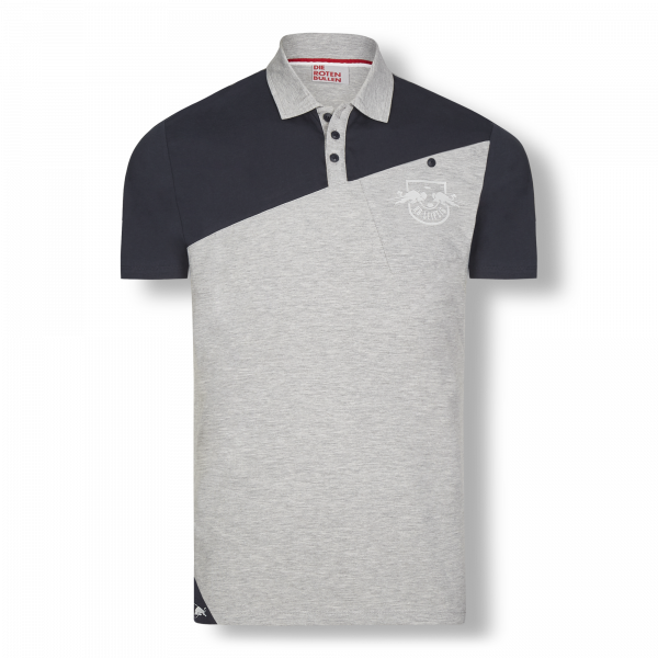 RB Leipzig Ascent Polo m 2F light grey melange