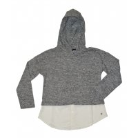 Tom Tailor Sweatshirt fabric mix dark stone melange