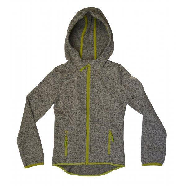 Tom Tailor Fleece Jacket with hood grey/lime