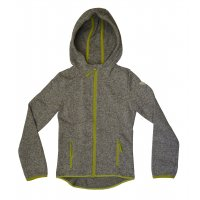 Tom Tailor Fleece Jacket with hood grey/lime