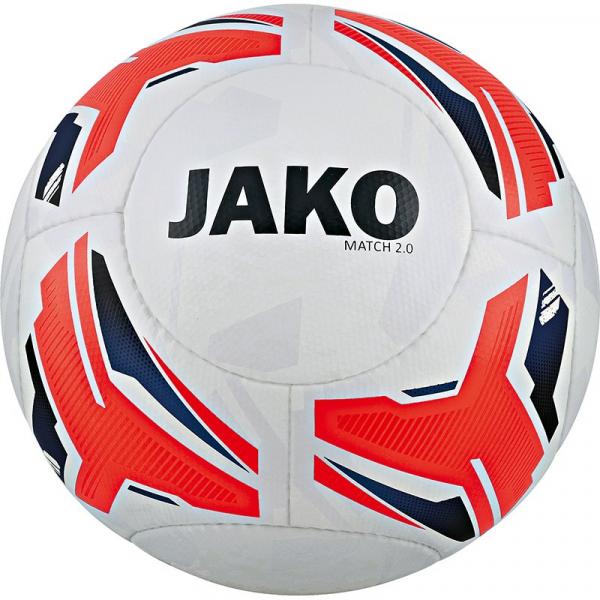 10 x Jako Trainingsball Match 2.0 weiss/flame/navy