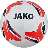 10 x Jako Trainingsball Match 2.0 weiss/flame/navy