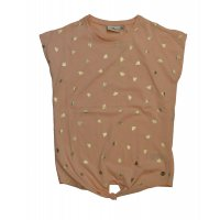 Tom Tailor T-Shirt knotted with foil print