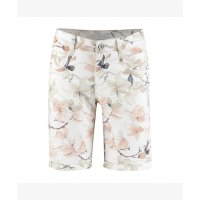 Red Button Shorts Amy flower