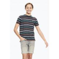 Garcia T-Shirt Jungen grau mit Streifen