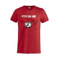 Scheissdrauf T-Shirt Protagonist rot L